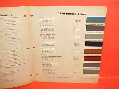 1946 Hudson Six Eight Super Convertible Commodore Club Coupe Sedan Paint Chips