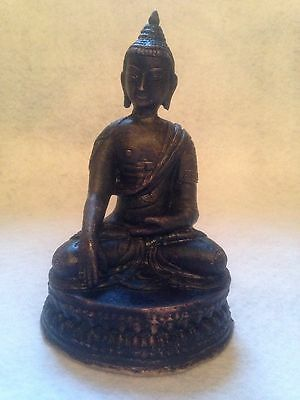 Antique Sino-Tibetan Bronze Figure Seated Buddha