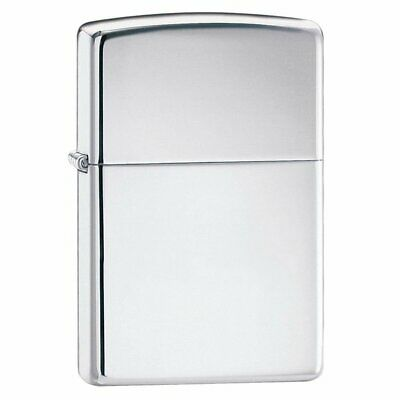 Zippo High Polish Chrome Lighter, Mirror Perfection, Genuine Windproof #250
