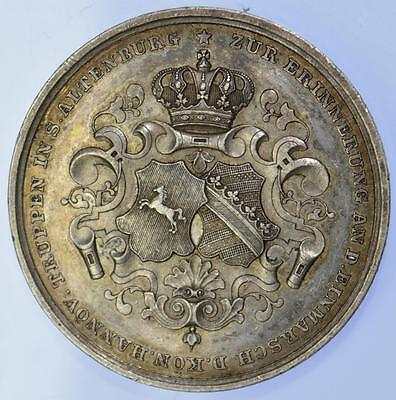 Germany - 1848 Entry of Hanoverian troops into city of Altenburg silver medal