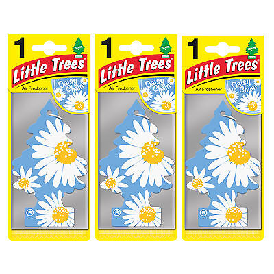 3 x Magic Tree Little Trees Car Home Air Freshener Freshner Scent - DAISY CHAIN
