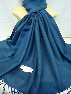Wholesale 12Pcs Pashmina Cashmere Plain Color Wrap Scarf Stole Navy