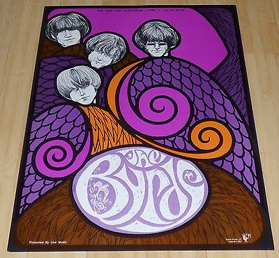 The Byrds Original 1967 Sparta Poster Lithograph Print Rock N Roll