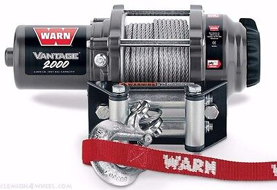 Warn Vantage 2000 LB ATV UTV Winch Polaris Yamaha Can Am Kawasaki 89020