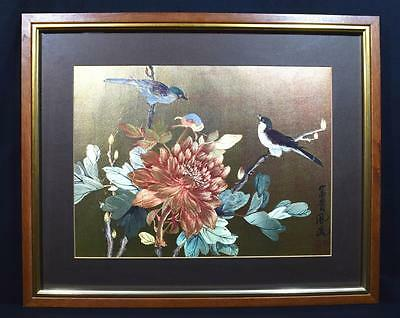 Large Vintage Japanese Print, Framed