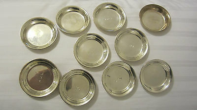 10  sterling silver nut plates