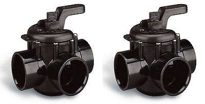 "2) NEW Pentair 263028 Pool 3-Way Plumbing PVC No Lube Diverter Valves 2"" x 2.5"""