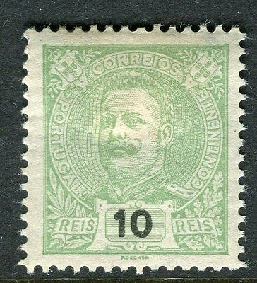 PORTUGAL;  1895 early classic Carlos issue Mint hinged 10r. value