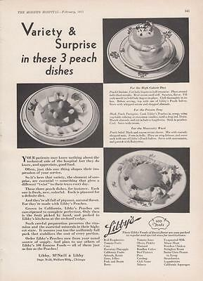 1931 Libby McNeil & Libby Chicago IL Ad Variety & Surprise in These 3 Peach Dish