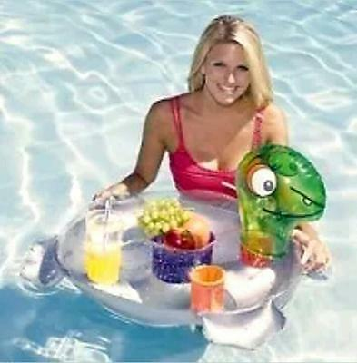Aquafun Floating Bar - Snack Caddy, Drinks Chiller, Pool, Drink Cooler Spa Float