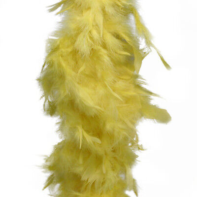 Yellow Feather Boa (6', 60 grams)