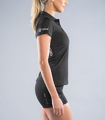 Women's Stay Cool Functional Fit Polo Black in Black