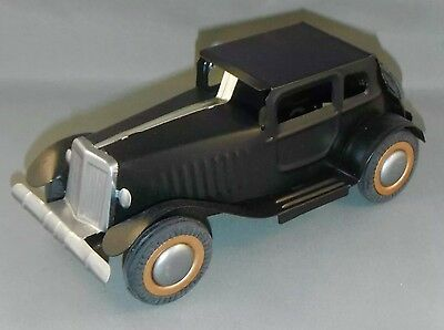 Classic Car Tin Toy Black Vintage Style Reproduction Of 1920s Collectible