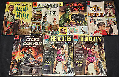 Dell/Gold Key Gold-Silver TV MOVIE TITLES 93pc Comic Lot Grade VG-FN Photo Cover