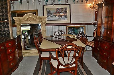 Drexel Duncan Phyfe Mahogany Dining Set – Buffet, Table & 6 Chairs and China Cab