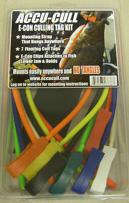 Accu Cull Accucull Tournament Fish Tag Culling Tag Kit Econ clips USA MADE