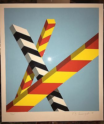 """Allan D'arcangelo Original Hand Signed And Numbered Modern Lithograph 28""""x22"""""""