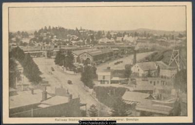 Bendigo: Railway Station, from high on St Paul's Cathedral