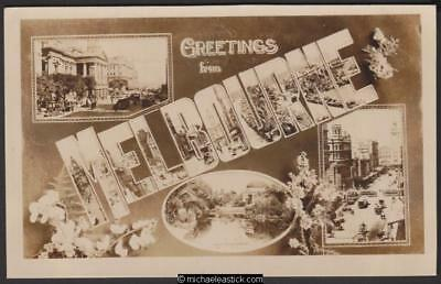Greetings from Melbourne, Rose Stereograph postcard