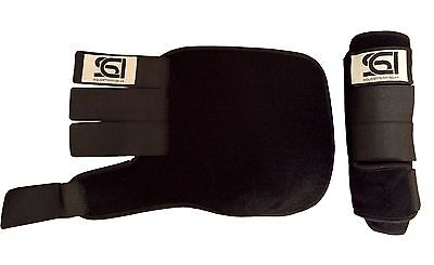 Medicine Brushing Support Boots Horse Equestrian Sci Black
