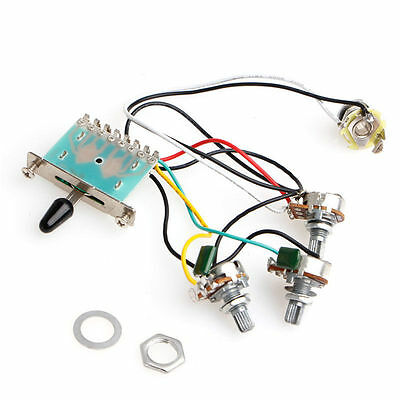 5-Way Switch Strat Stratocaster Guitar 250k Pots Knobs Wiring Harness Pickup