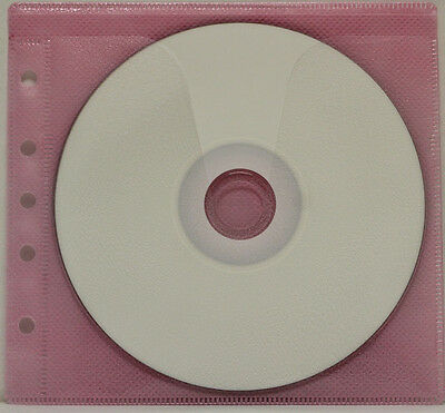 200 Generic CD/DVD Double-sided Refill Plastic Sleeve Pink  (5H)
