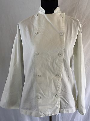 Women M Chef Revival Culinary Jacket Coat White Double Breasted Long Sleeve