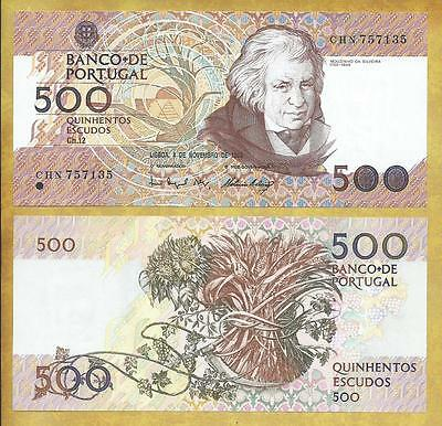 Portugal 500 Escudos 1993 Money Bill P-180f Unc Currency Note ***USA SELLER***