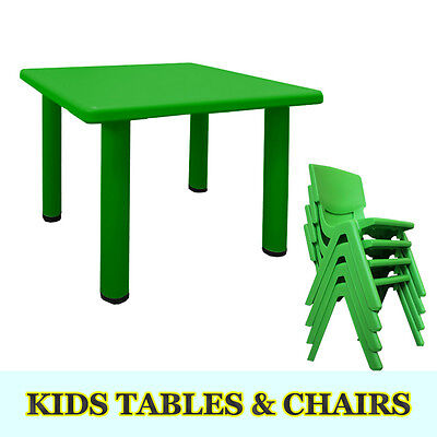 Popular Children Kids Toddler Table and chair set plastic Square Activity
