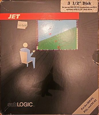 JET, IBM PC 1985 Flight Simulator by Sub Logic - No Disc, Box Only