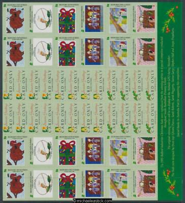 1995 Full sheet 24 Christmas seals & 24 card stickers