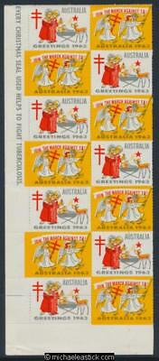 1963 Block of 14 Christmas seals, Join the march against TB!,