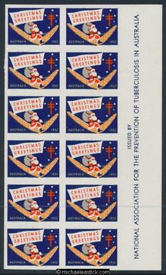1952 block of 12 imperf Christmas Greetings