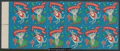 1961 Block of 12 Christmas & Greetings