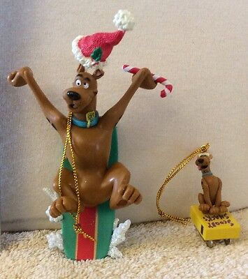 Scooby Doo Christmas Ornament Cartoon Network Trevco Set of Two Original Box