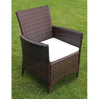 9/13/17pc Aluminium Outdoor Wicker Furniture Dining Set Poly Rattan Brown/Black