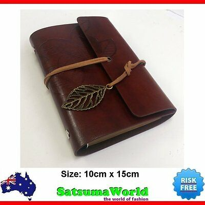 Pocket Journal Travel Diary Girl Notebook Leather Cover vintage cahier Refillabe