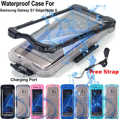 Fr Samsung Galaxy S7 Edge / S8+  Swimming Waterproof Shockproof Phone Case Cover