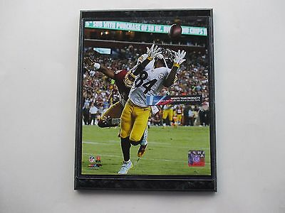 """Antonio Brown Pittsburgh Steelers Touchdown Photo Mounted On A '9 X 12"""" Black Ma"""