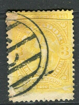 EL SALVADOR;  1890 early classic issue fine used 3c. value