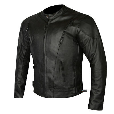 Highly Ventilated Motorcycle Leather Cruiser Armor Touring Jacket For Men