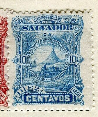 EL SALVADOR;  1891 early classic issue Mint hinged 10c. value