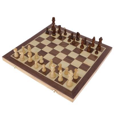 Portable Wooden Folding Chessboard Chess Set Pieces Toy Kids Gifts 39.5cm