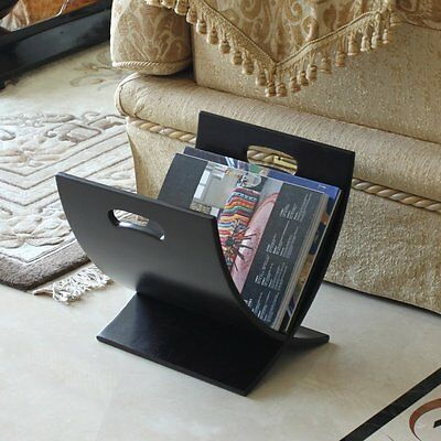 Magazine Racks For Home Office Floor Contemporary Wooden Espresso Books  Holder