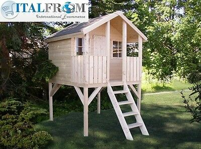 Wooden wendy house TOBY kids outdoor cottage kids playhouse ItalfromB2