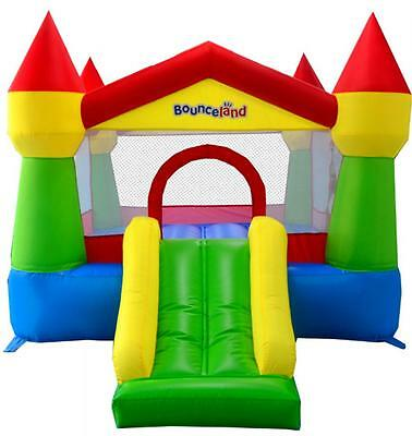 Bounceland Classic Turret 12ft Bouncy Castle with Airflow Fan Blower 3 Colours