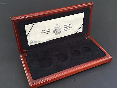 1991 Canada 4-Coin Münzen Proof Platinum Snowy Owl Set - Holzbox mit Papiere