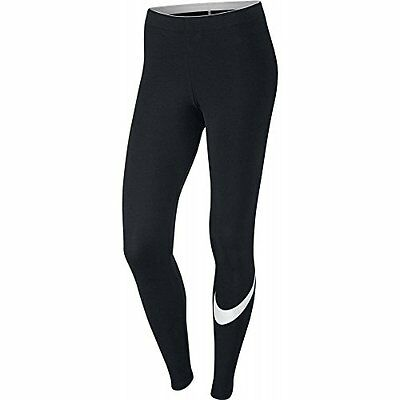 NEW Womens Nike Club Logo 2 Gym Sports Workout Fitted Leggings -White Pearl Tick