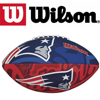 Wilson New England Patriots Junior Size American Football Gridiron Ball