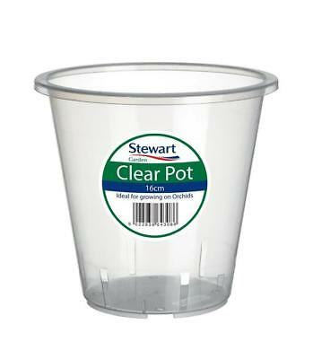 Clear Orchid Pot 18.5x 17cm by Stewart Garden Products Plant Flower Planting